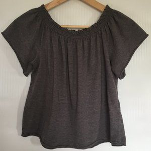 Off Shoulder Short Sleeve Summer Crop Top Size S
